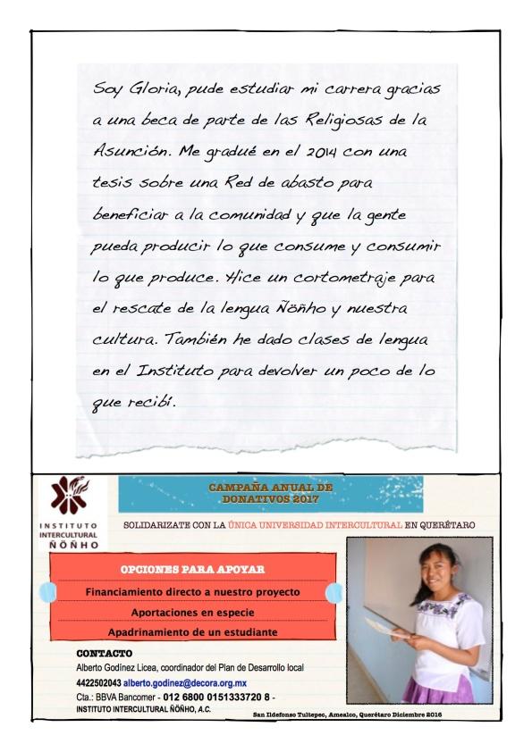 Promo donativo IIÑ Gloria